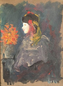 Mid 20th Century French Impressionist Portrait of a Young Girl