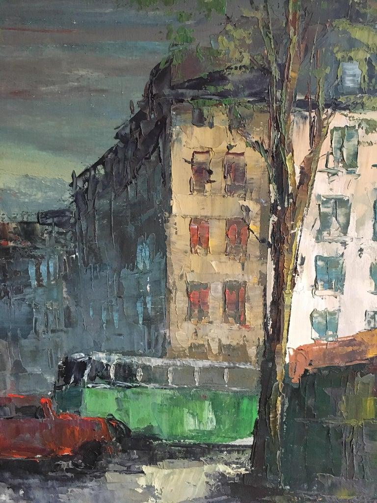 Parisian Flower Market, Large Impressionist Landscape, Oil Painting For Sale 3