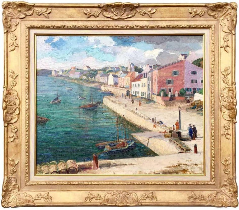 French School Landscape Painting - The Harbor