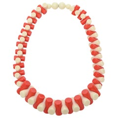 French Sculptural Resin Necklace