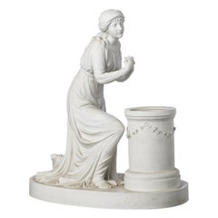 """French Sculpture """"Female"""" 19th Century Biscuit"""