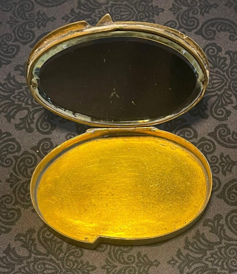 20th Century French Sculptured Gilt Bronze Box by Line Vautrin For Sale