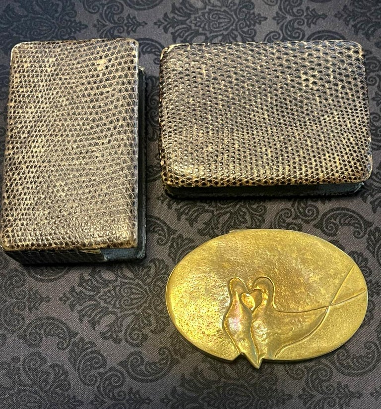French Sculptured Gilt Bronze Box by Line Vautrin For Sale 1
