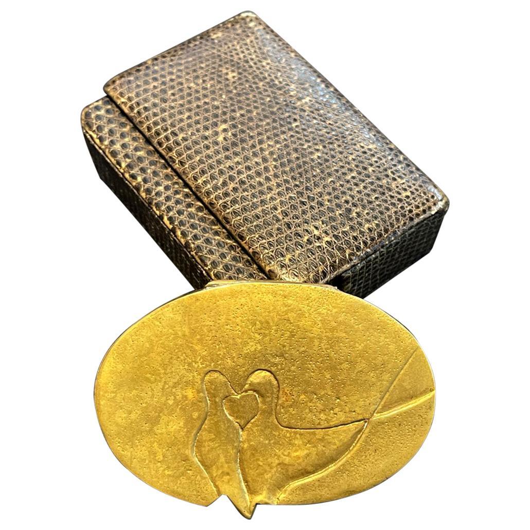 French Sculptured Gilt Bronze Box by Line Vautrin
