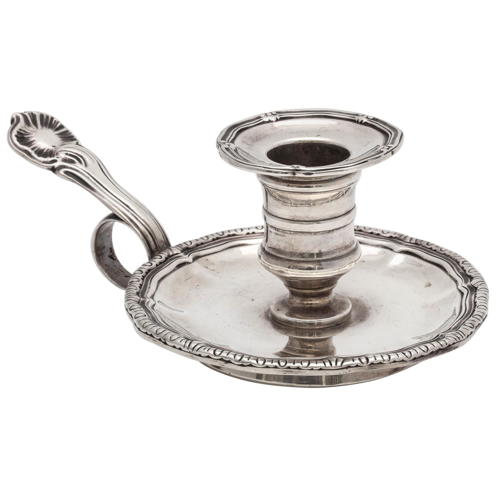French Second Empire Sterling Silver Chamberstick