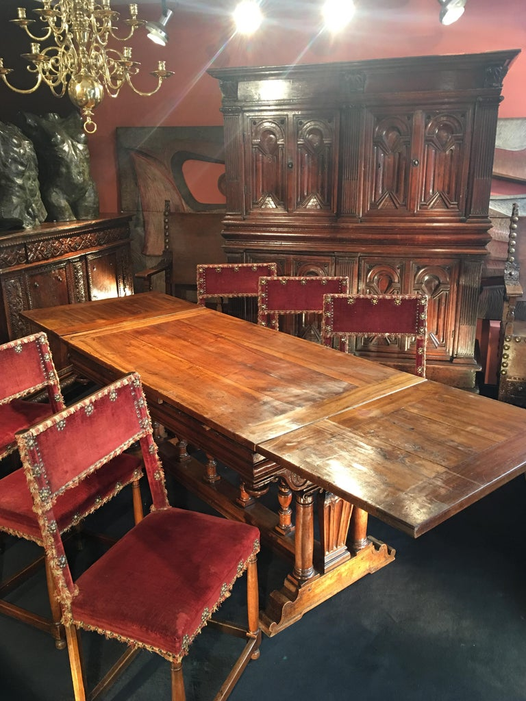 French Second Renaissance Table Said 'à l'italienne' In Good Condition For Sale In Paris, FR