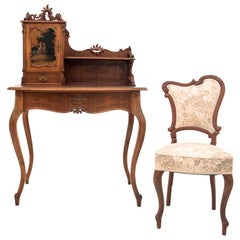 French Secretary Desk with a Chair from circa 1880