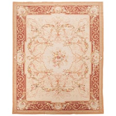 French Semi-Antique Aubusson Needlepoint Rug