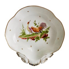 French Serving Dish, Heron and Cockerel La Fontaine, circa 1820