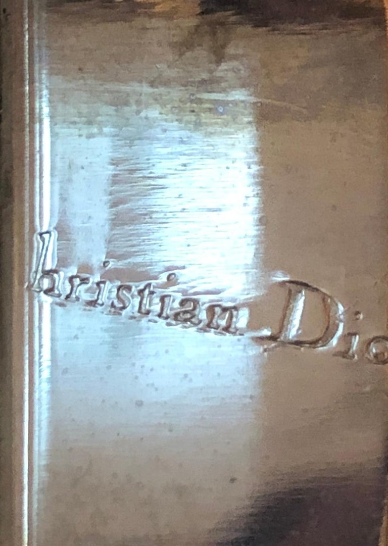 French Serving Tray of Chrome and Glass by Christian Dior 2