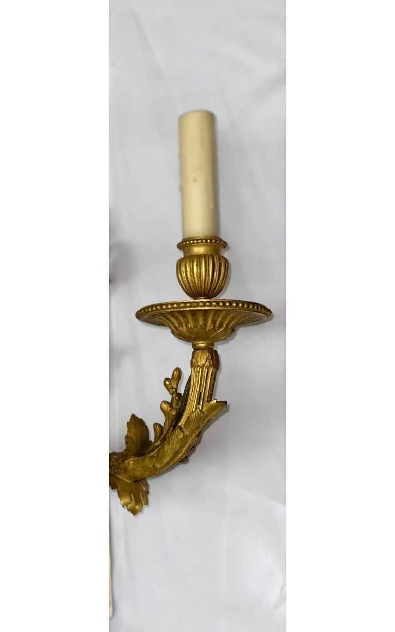 French Set of Four Ormolu Sconces, 19th Century For Sale 3