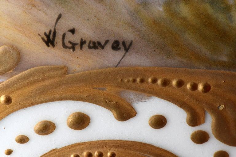 Neoclassical French Sevres Gilt Bronze Porcelain Pedestal Centerpiece Bowl For Sale