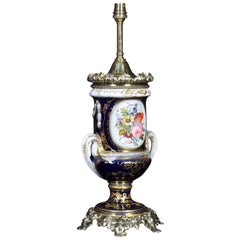 French Sevres Style Table Lamp