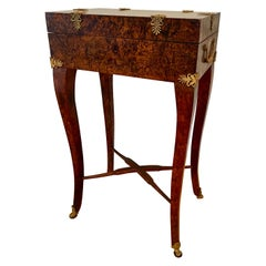 French Sewing Table, Manner of Alphonse Giroux Paris, 19th Century