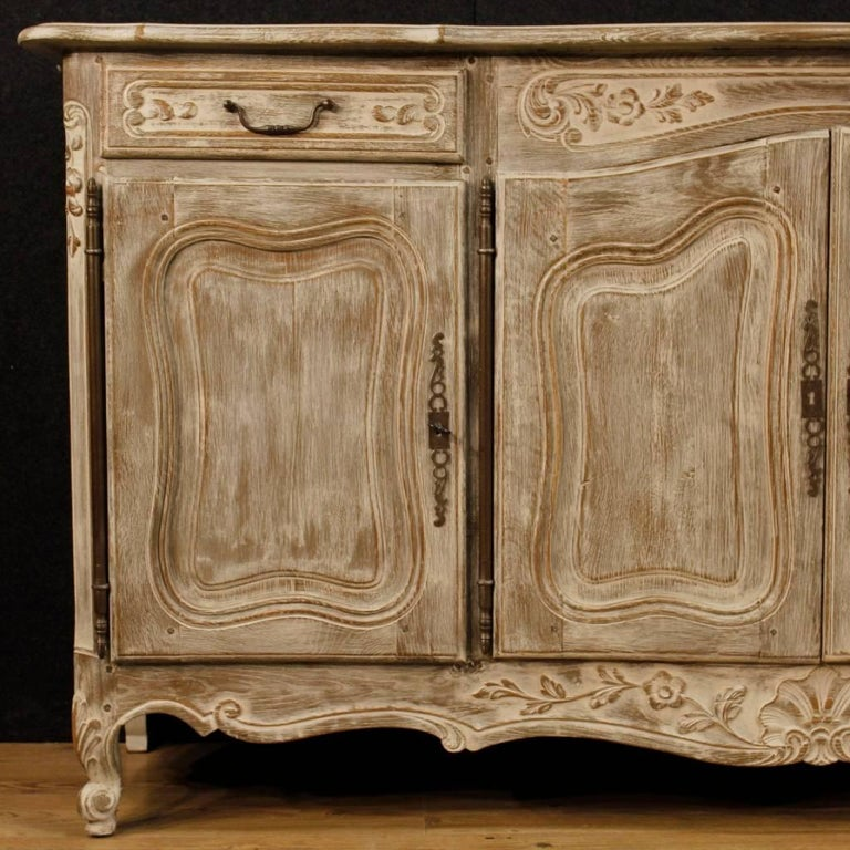 French Shabby Chic Sideboard In Lacquered Wood From 20th Century At