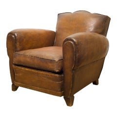 French Sheep Hide Club Chair, circa 1930