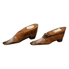 French Shoe Form Snuff Boxes, 19th Century
