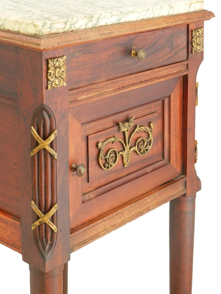 19th century side cabinet French nightstand, bedside table, circa 1880-1890