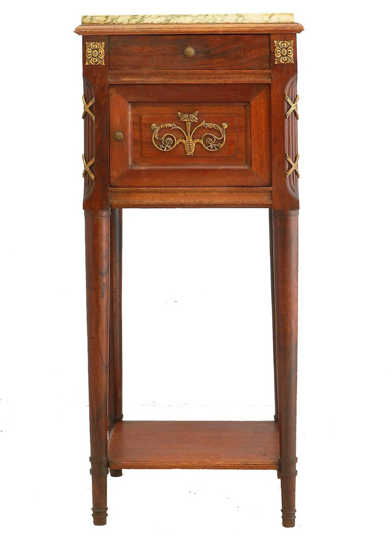 French Side Cabinet Nightstand Bedside Table Late 19th Century Louis XVI For Sale 1