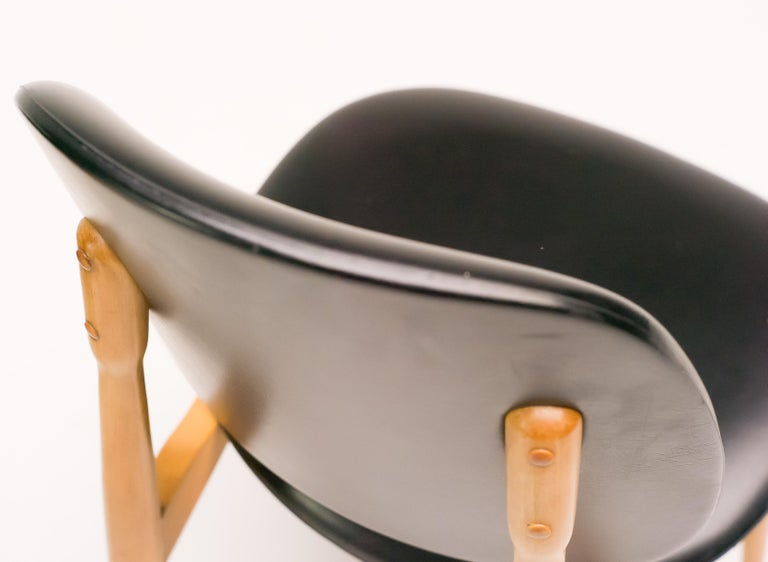 Naugahyde French Side Chairs For Sale