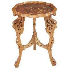 French Side Table in Art Nouveau Style