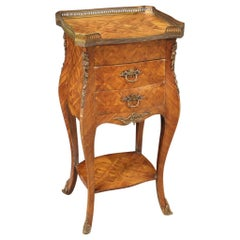 French Side Table Inlaid in Rosewood, 20th Century