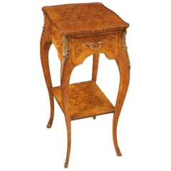 French Side Table Inlaid In Rosewood, Mahogany, Maple & Fruitwood, 20th Century