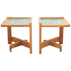 French Side Tables Guillerme et Chambron, circa 1960