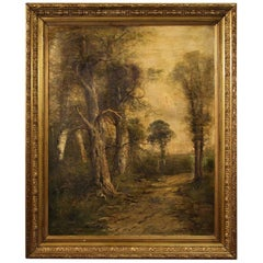 French Signed Landscape Painting from the 19th Century