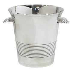 French Silver Champagne or Wine Cooler or Ice Bucket