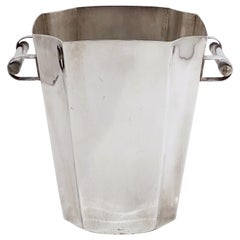 French Silver Champagne or Wine Cooler or Ice Bucket in the Art Deco Style