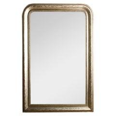 French Silver Leaf Louis Philippe Mirror, circa 1870