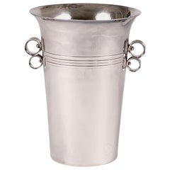 French Silver-Plate Champagne Bucket