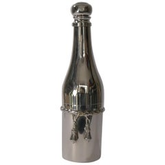 French Silver Plated Champagne Bottle Cocktail Shaker