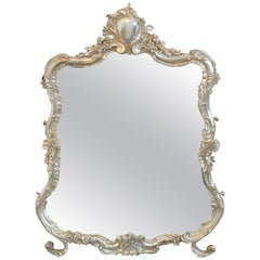 French Silver Plated Dressing Mirror, Attributed to Christofle