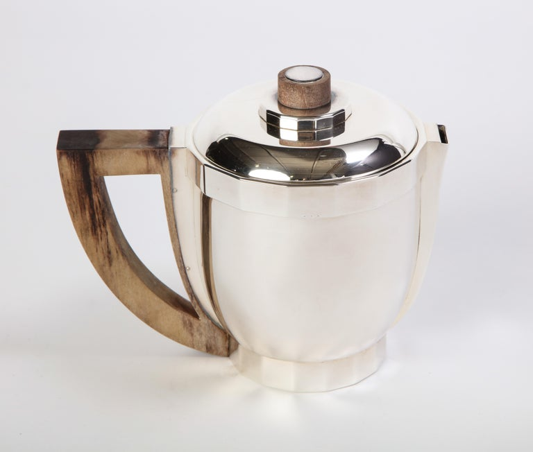 French Silver-Plated Four-Piece Puiforcat Tea and Coffee Service, circa 1990 For Sale 8