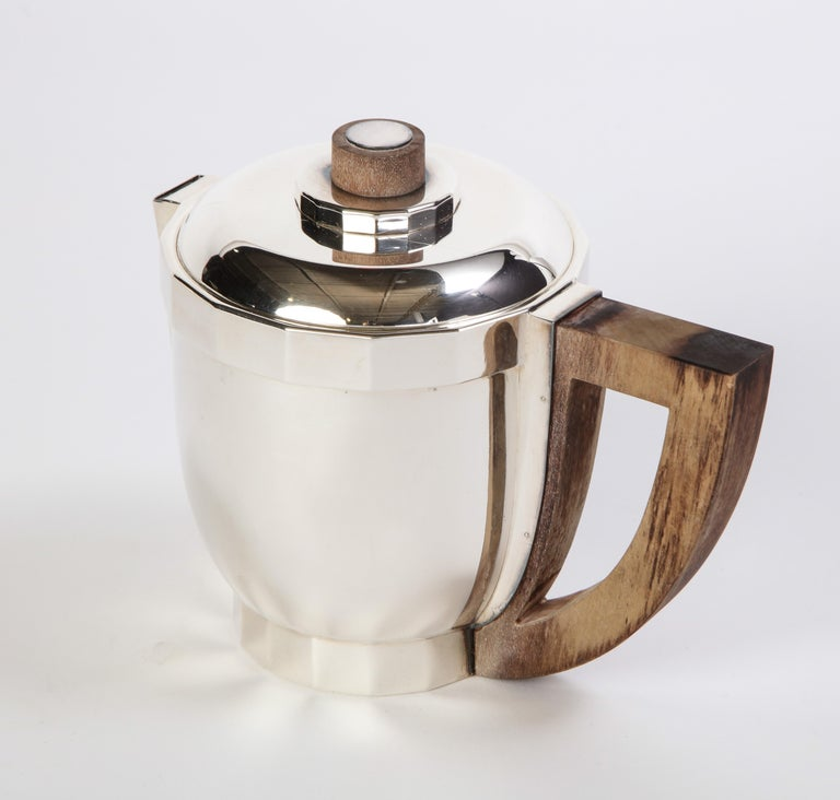 French Silver-Plated Four-Piece Puiforcat Tea and Coffee Service, circa 1990 For Sale 9