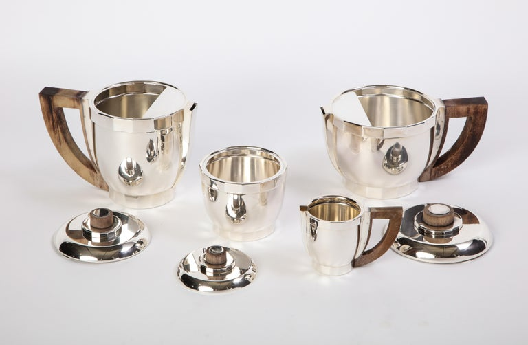 French Silver-Plated Four-Piece Puiforcat Tea and Coffee Service, circa 1990 For Sale 1