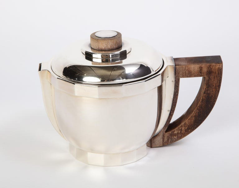 French Silver-Plated Four-Piece Puiforcat Tea and Coffee Service, circa 1990 For Sale 2
