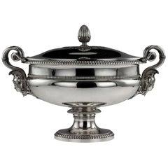 French Silver Soup Tureen, Jean-Charles Cahier, Paris, circa 1820