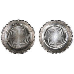 French Silver Wine Coasters