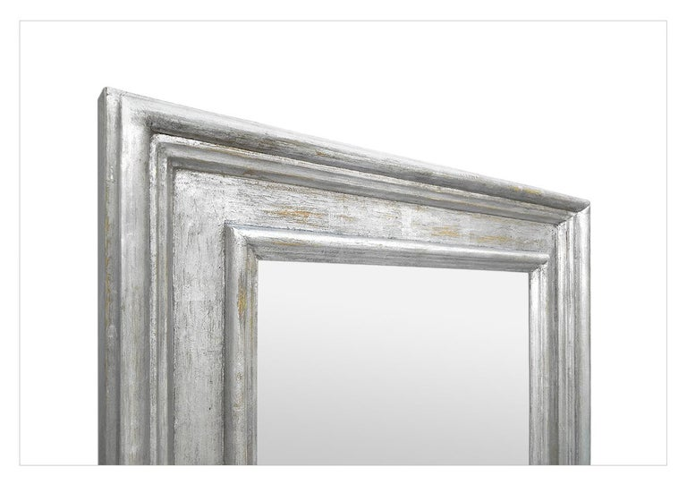 Contemporary French Silver Wood Mirror, Frame Inspiration