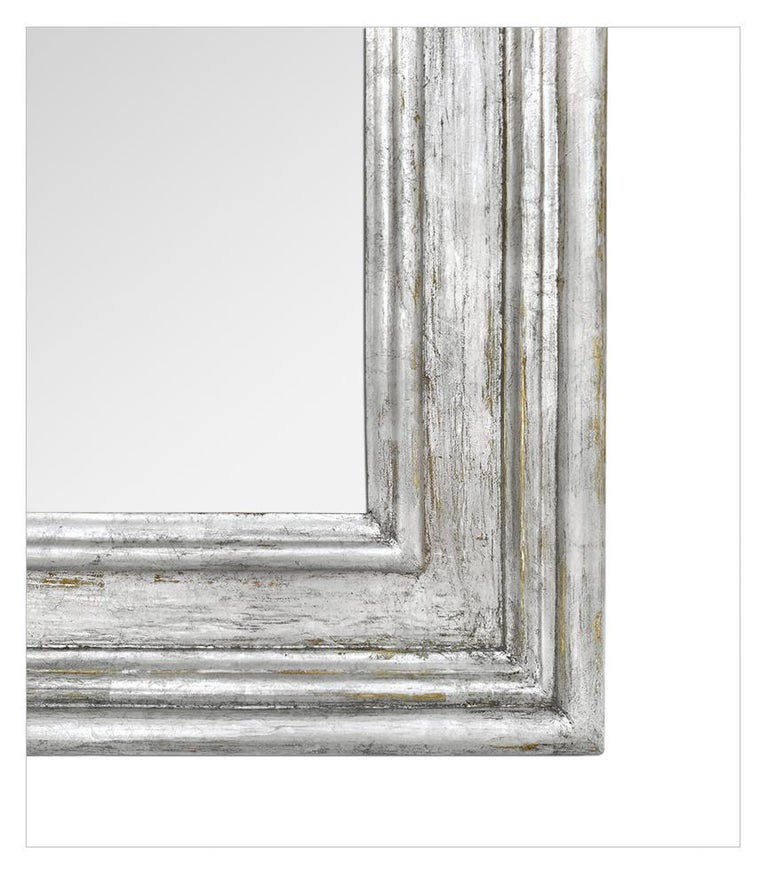 Gesso French Silver Wood Mirror, Frame Inspiration