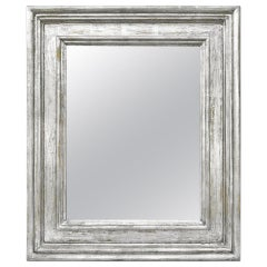 "French Silver Wood Mirror, Frame Inspiration ""Braque"" by Pascal & Annie"