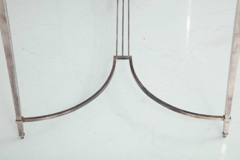 French Silvered Bronze Table For Sale 5