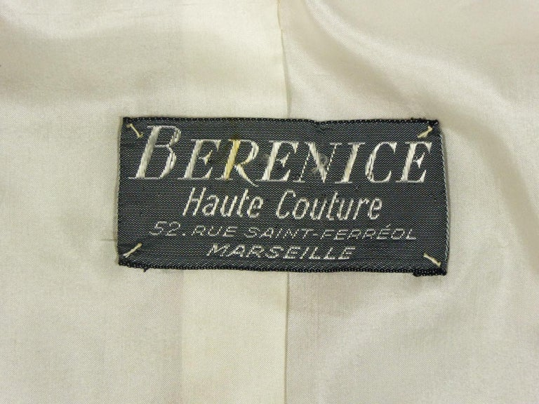 French Skirt SuitDemi-Couture Christian Dior / Bérénice Marseille Circa 1968 For Sale 11
