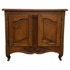 French Small Buffet Louis XV Style 20th Century and Varnished