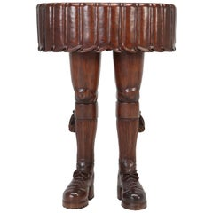 French Solid Mahogany Whimsical Side Table or Sculpture
