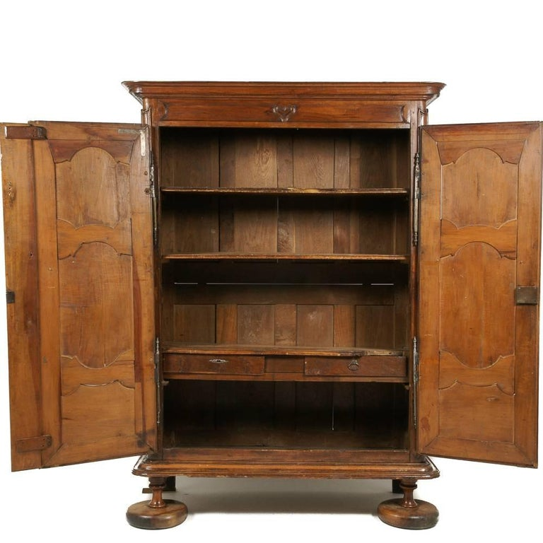 French Solid Walnut and Oak 18th Century Armoire For Sale ...