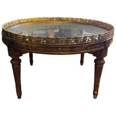 French Sourtout de Table Now Mounted as a Low Table